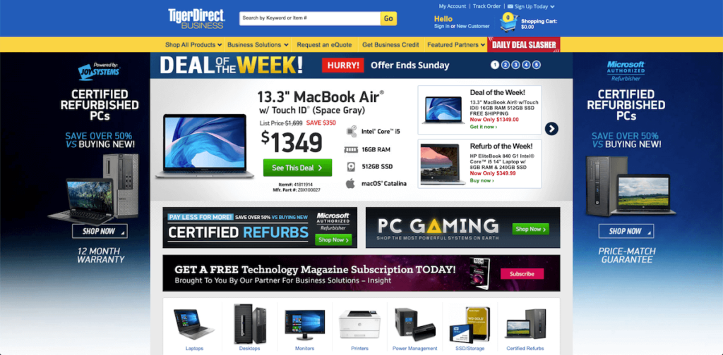 TigerDirect Laptops edited
