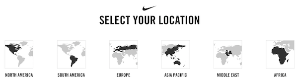 nike select location