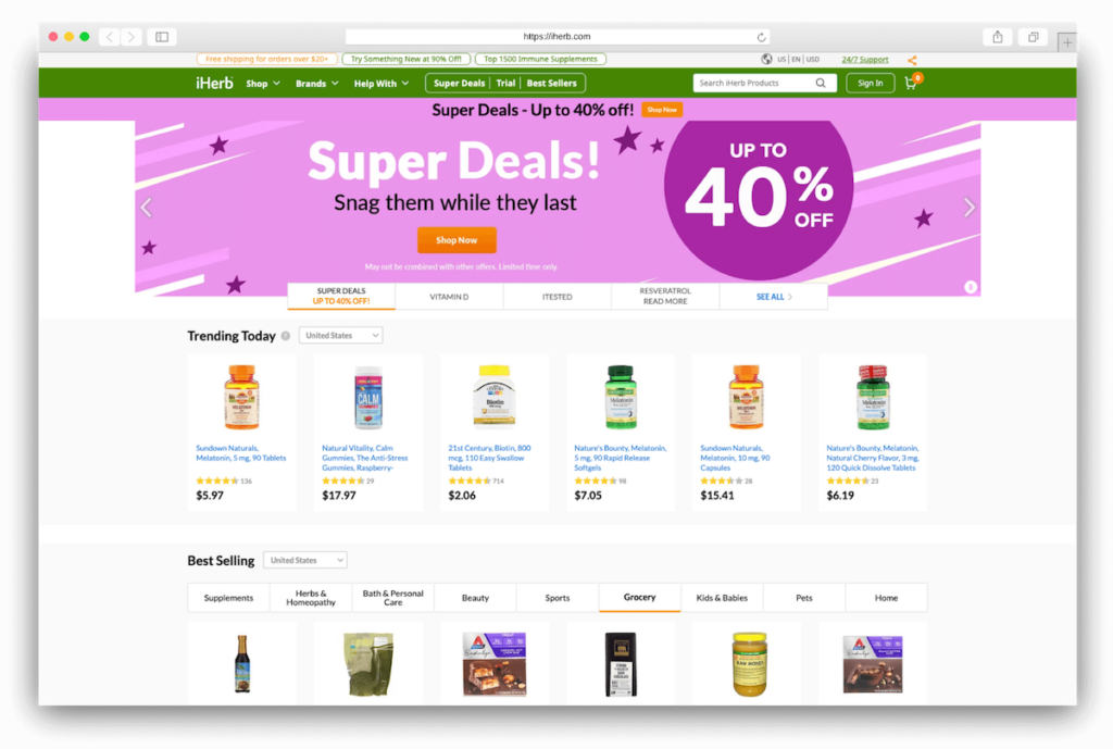 Supplements iherb.com