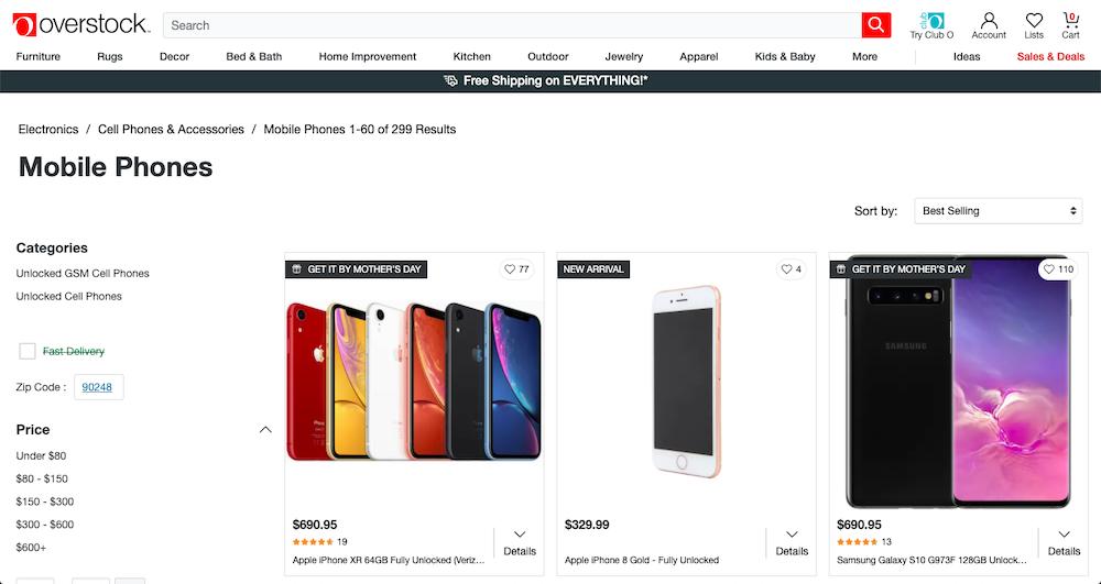 Overstock Smartphones