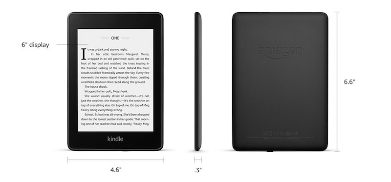 Kindle Paperwhite 4 Technical details