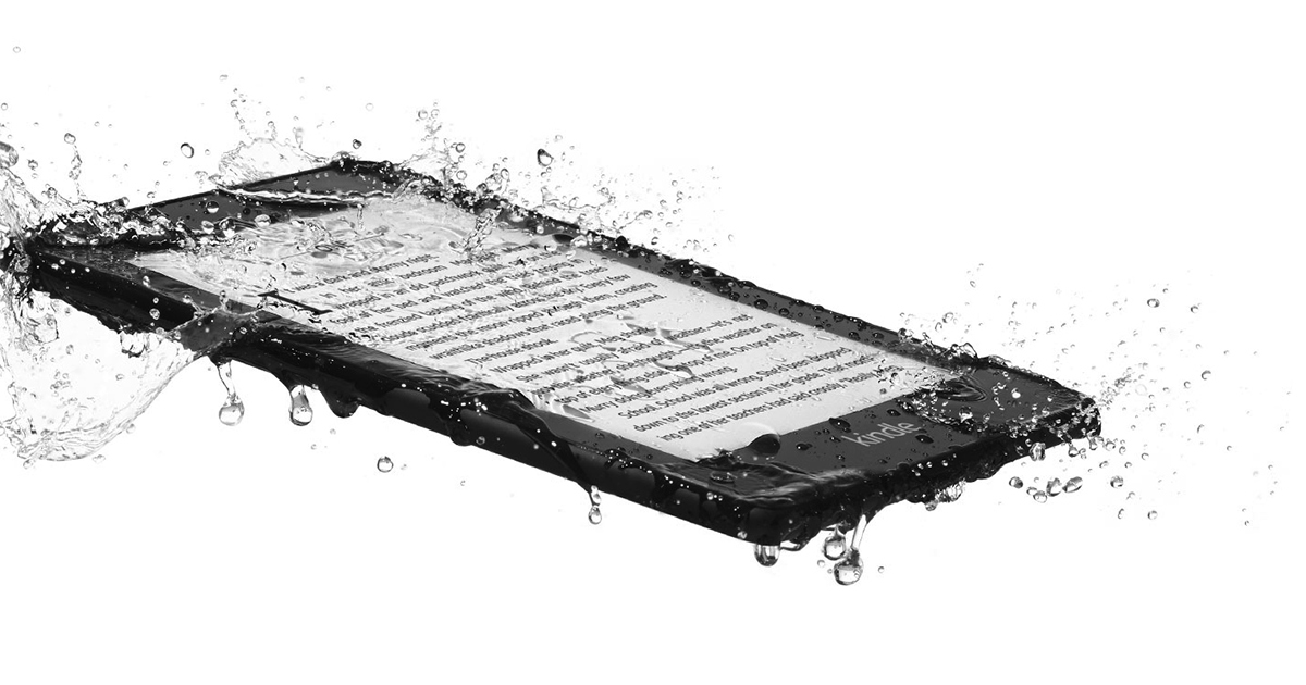 With a new Amazon e-reader you can read in the shower