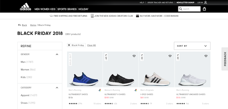 adidas black friday 2018