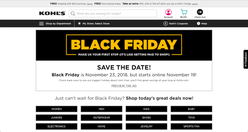 kohls black friday 2018