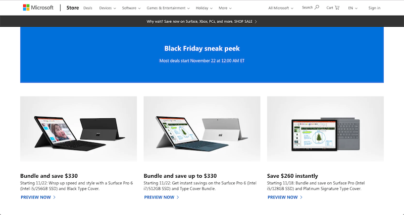 microsoft black friday 2018