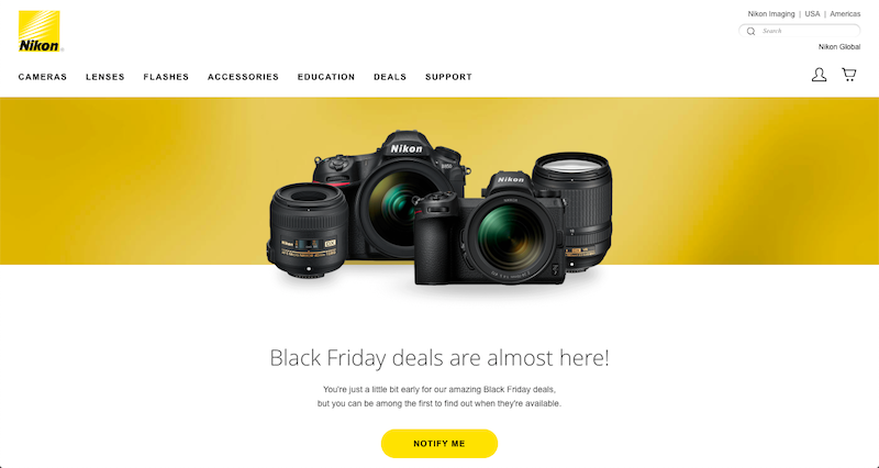 nikon black friday 2018
