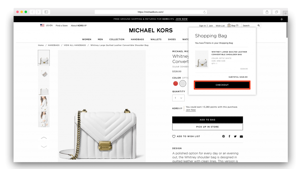 2Michael Kors cart final