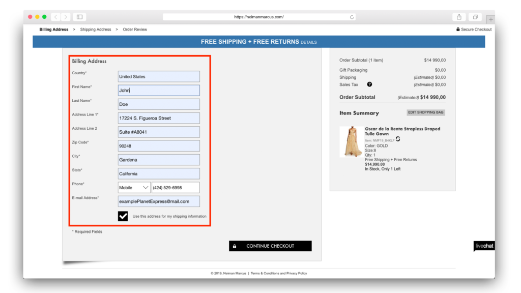 4Neiman Marcus delivery address final