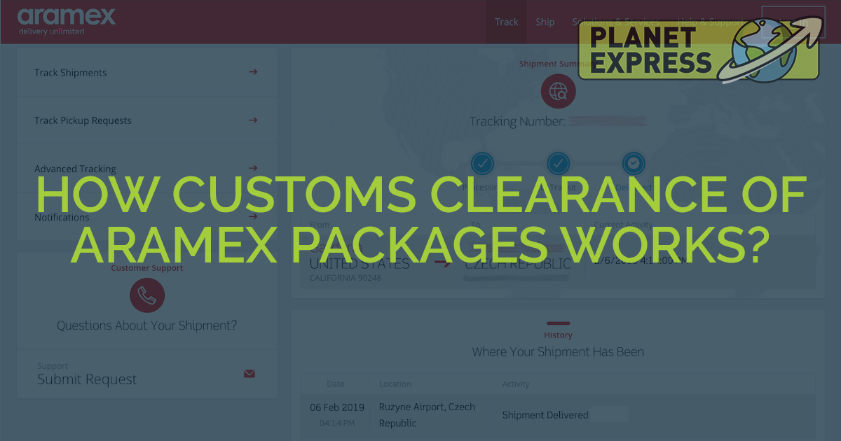aramex customs clearance