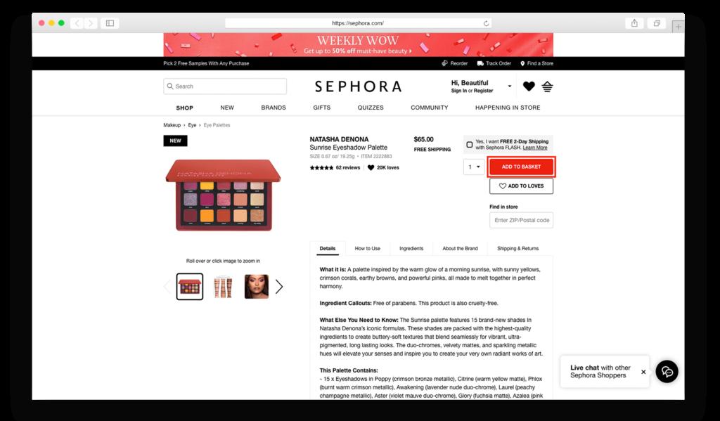 1Sephora item