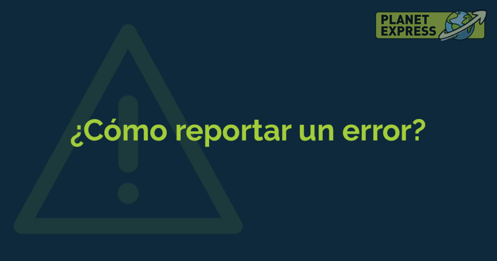 ESP how to report an error