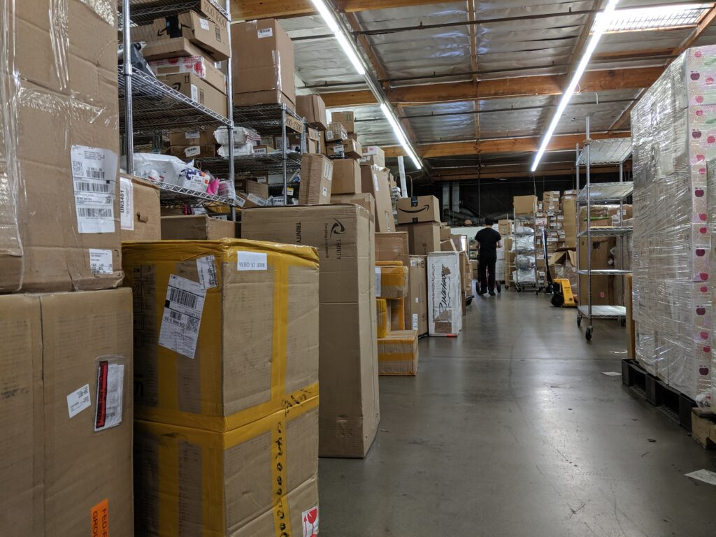 Warehouse in July 2019