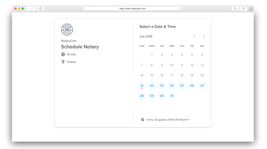 appointment select date and time