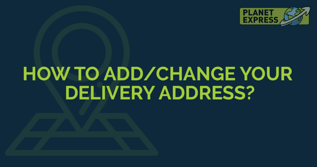 how to add and change address