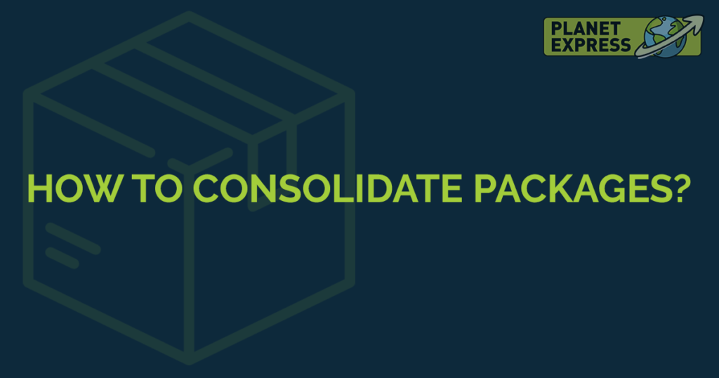 how to consoldiate packages