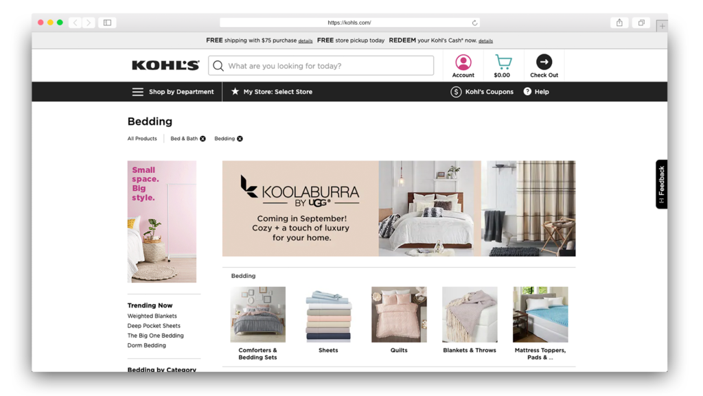 Kohls Beddings