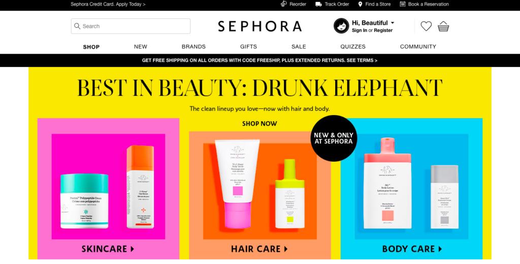 Sephora американский сайт
