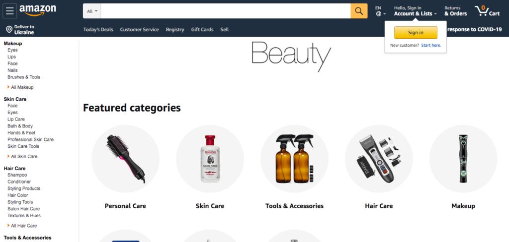 Косметика и макияж с Amazon