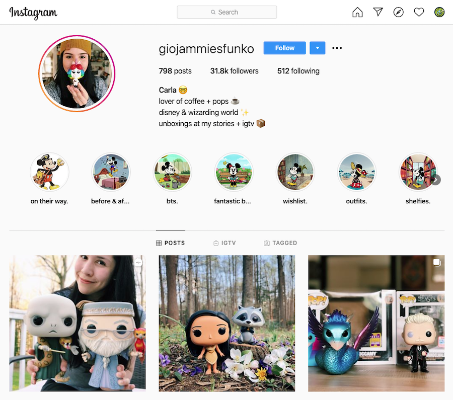 Giojammiesfunko Instagram Profile