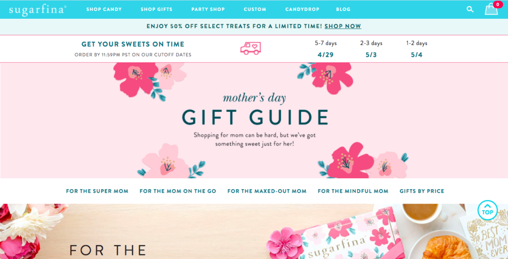 mother's day sale guide sugarfina.com