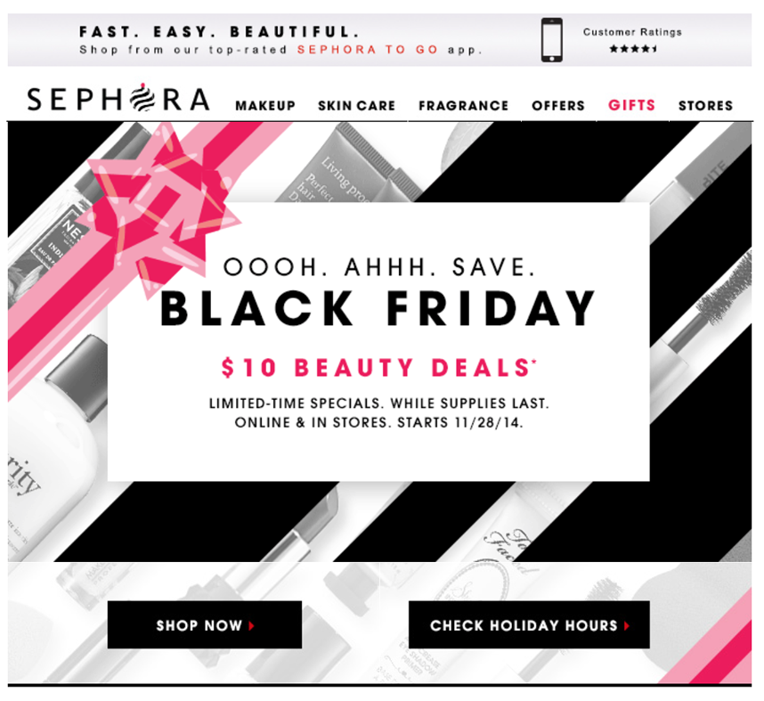 Sephora black friday распродажа
