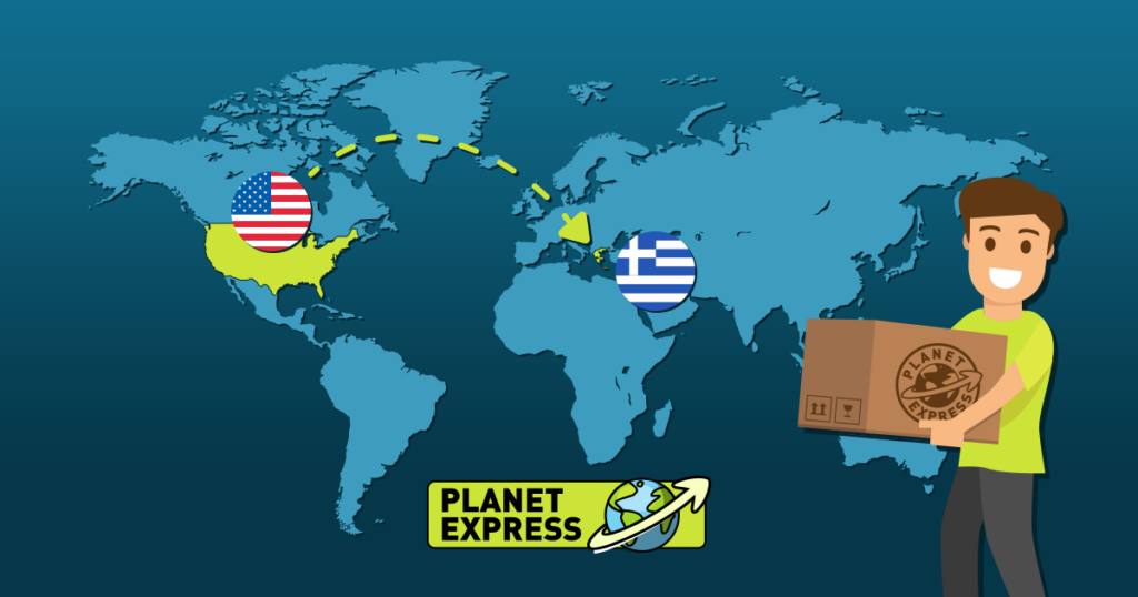 Shipping from the USA to Greece