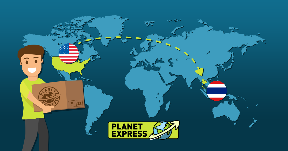Shipping from the USA to Thailand