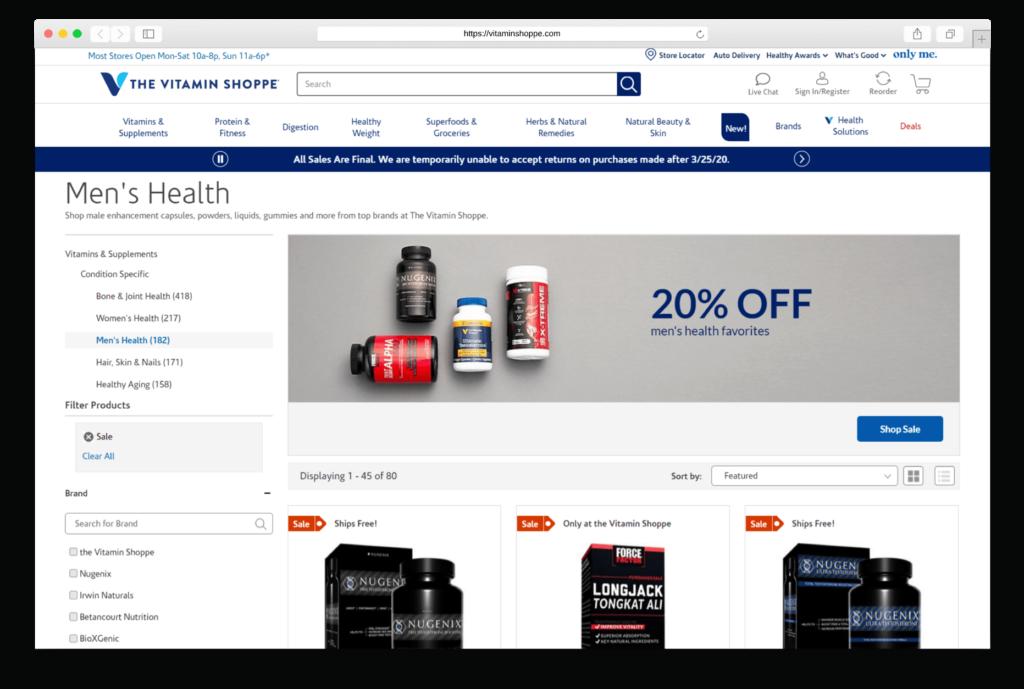 Supplements vitaminshoppe.com