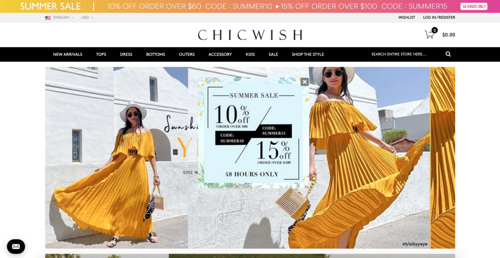Chichwish official website
