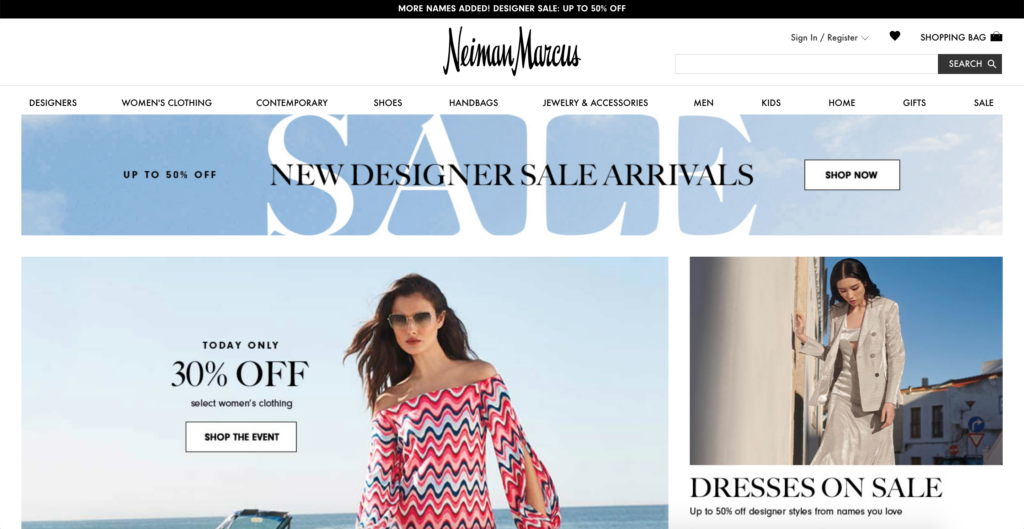Neiman Marcus official website