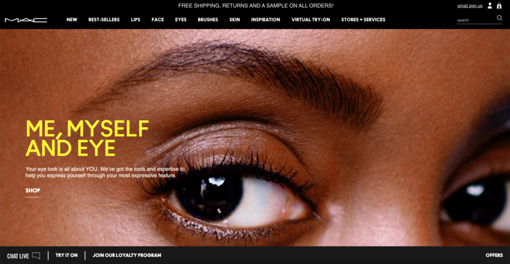 MAC Cosmetics official website