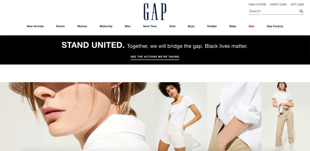 GAP официальный сайт