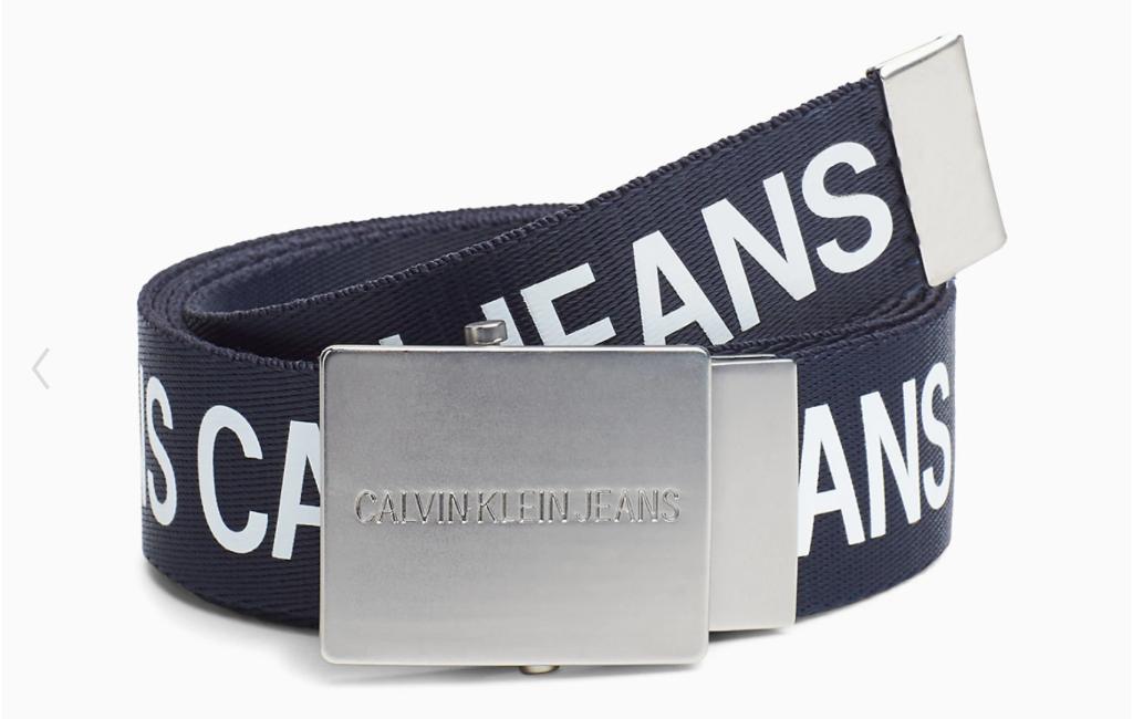 1 CK logo plaque belt