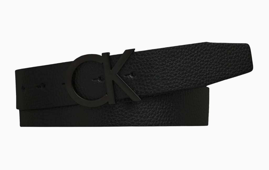 2 ck leather logo belt