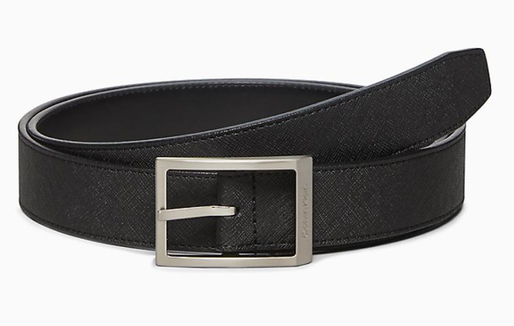5 ck saffiano reversibe belt