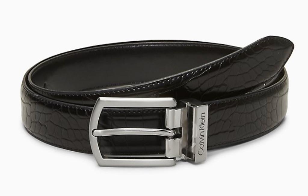 6 ck croc leather belt