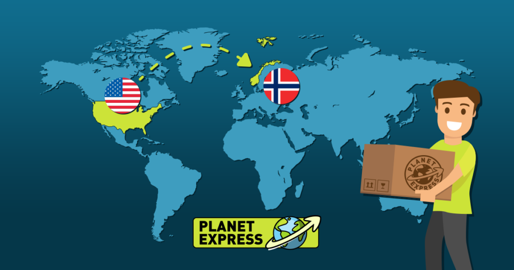 Shipping from the USA to Norway