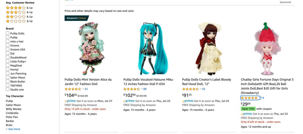 dolls on amazon