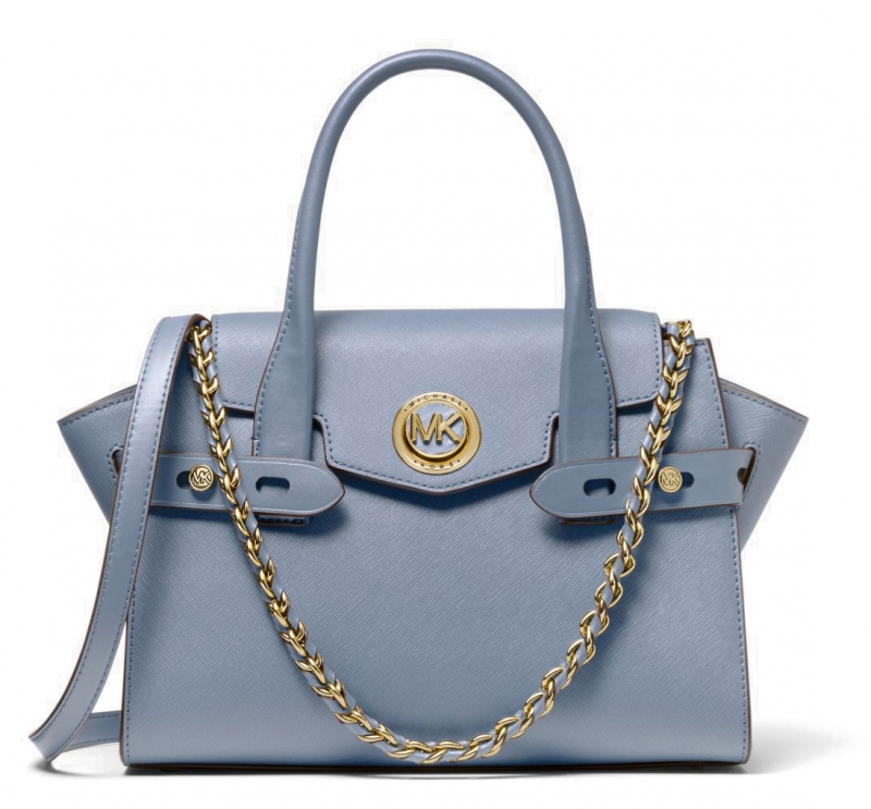 Carmen Small Saffiano Leather Belted Satchel 1