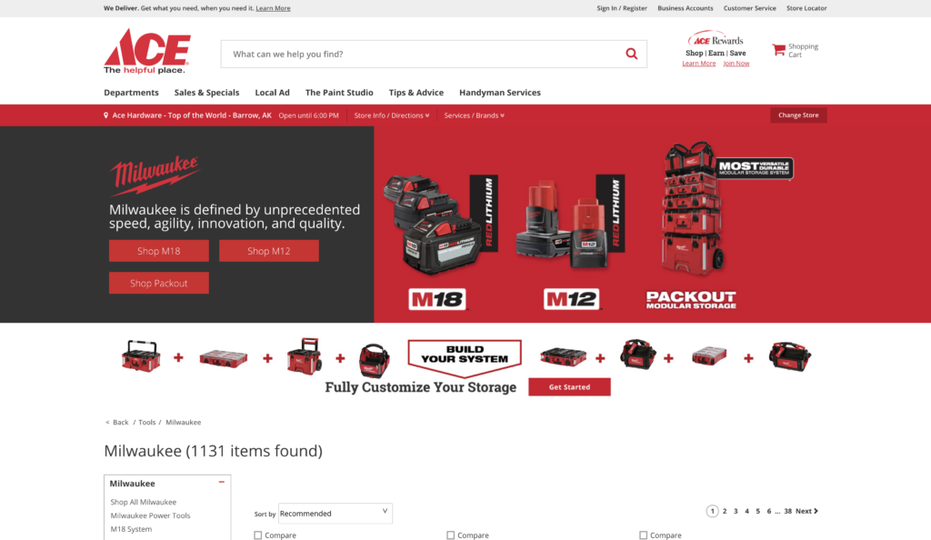ace hardware store screenshot