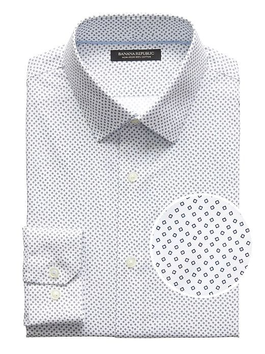 Standard-Fit Pattern Wrinkle Free Dress Shirt