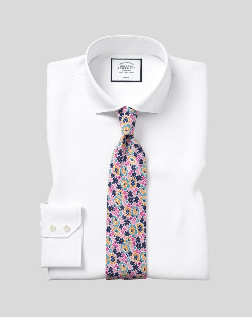 White Wrinkle Free Dress Shirt