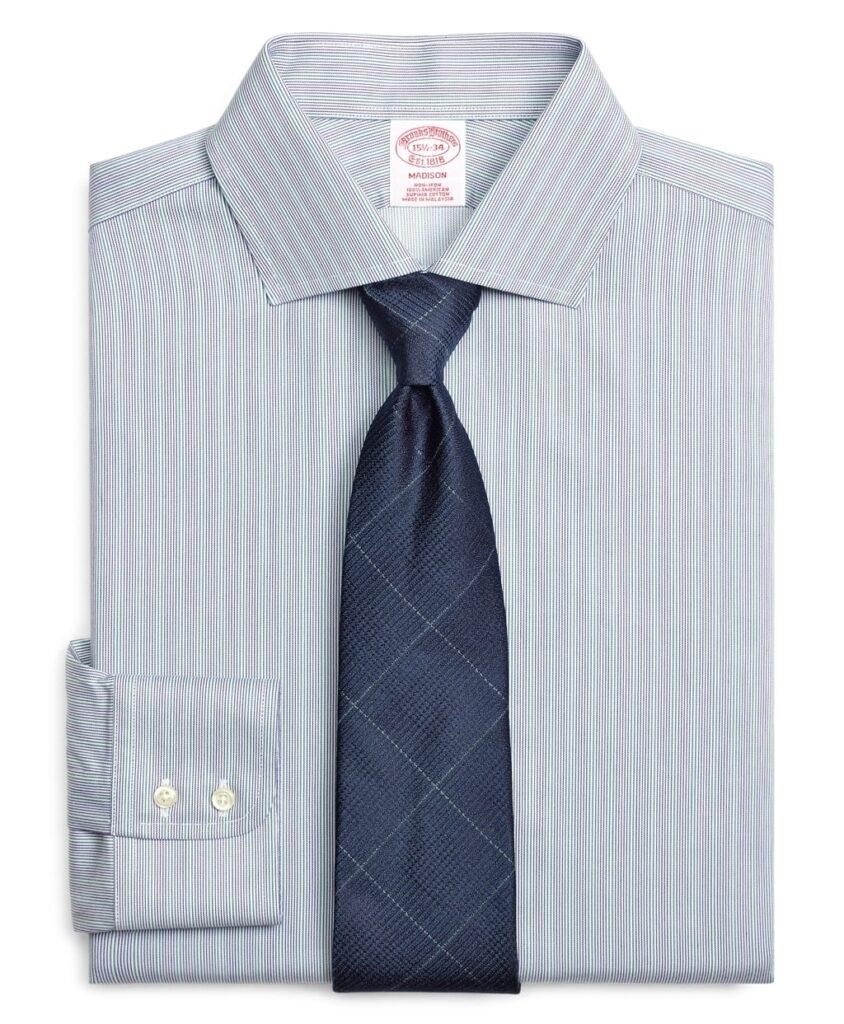 Hairline Stripe Wrinkle Free Dress Shirt