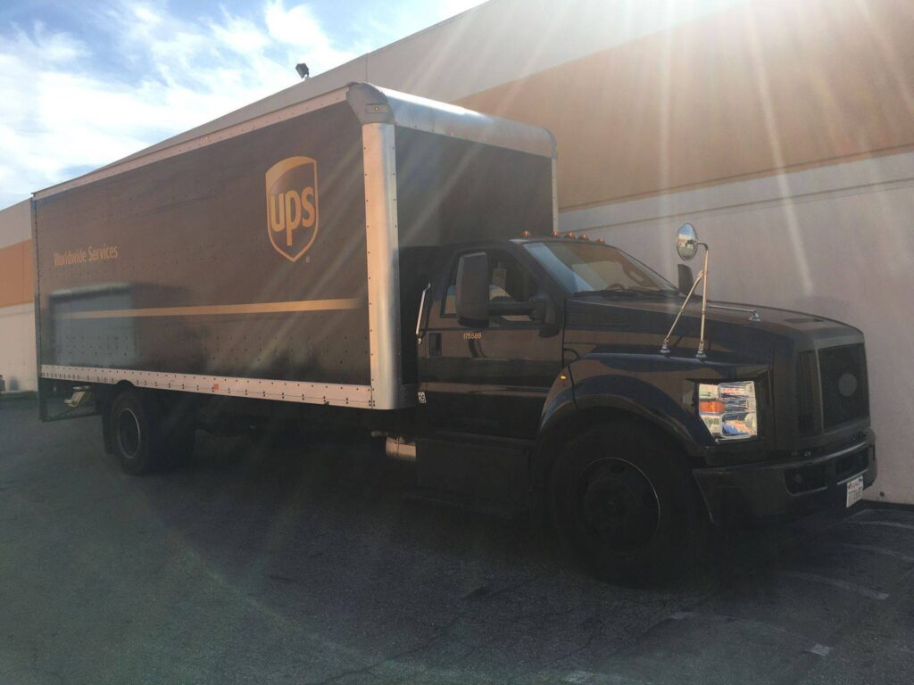 UPS Truck Waiting for Drop Off