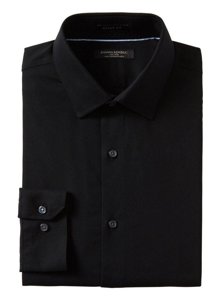Black Wrinkle Free Dress Shirt