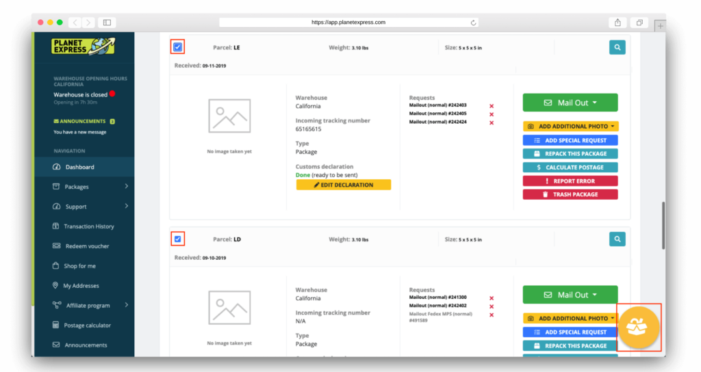 how to consolidate packages selection