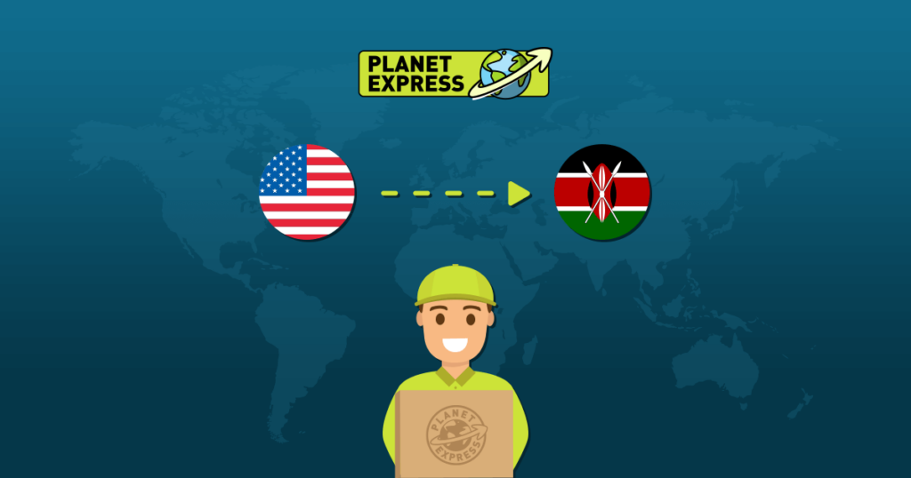 Shipping from the USA to Kenya