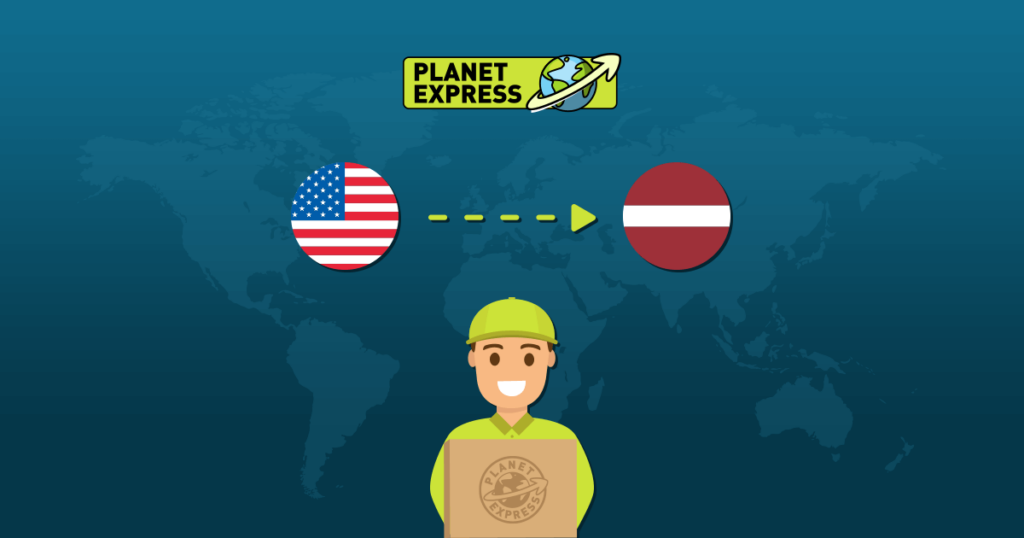 Shipping from the USA to Latvia
